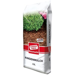 Sonderpreis Baumarkt Rindenmulch 60 Liter