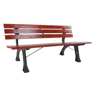 Parkbank 3-Sitzer aus Kiefernholz mit gusseisernen Beinen