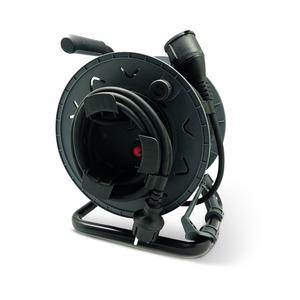 Gartenkabeltrommel H05RR-F 3G 1,5 mm² 25 m schwarz