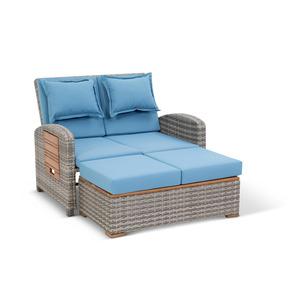 Multifunktions-Sofa 'Gesine' blau 117 x 93 cm