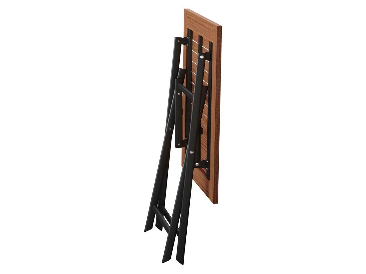 Bild 5 von FLORABEST Alu-Klapptisch Valencia mit Holzplatte 70 x 70 cm, Braun