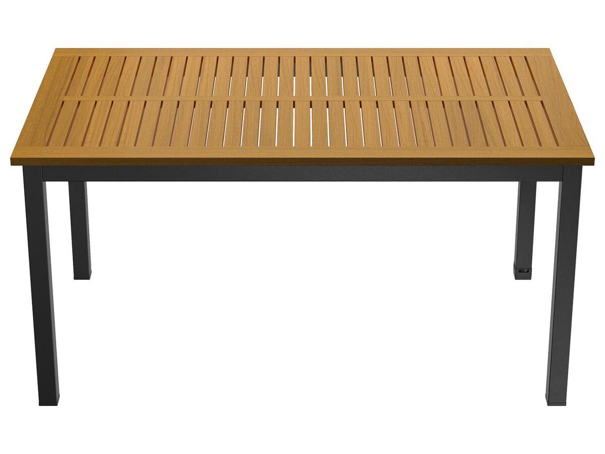 Bild 2 von FLORABEST Geflecht- Gartenmöbelset »Valencia« mit Standardtisch & Klappsessel, 7-teilig, Braun