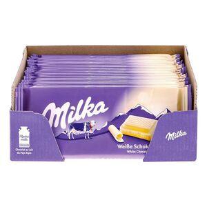 Milka Tafelschokolade Weiss 100 g, 22er Pack