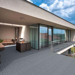 WPC-Terrassendielen 6m², grau1