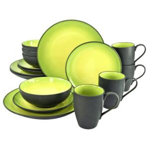 CreaTable Kombiservice Hot Green 16-teilig mehrfarbig