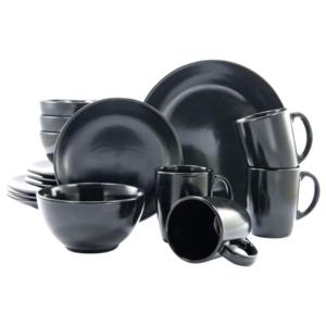 CreaTable Kombiservice Black and White Schwarz-matt 16-teilig schwarz-matt