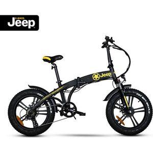 "Jeep Fold FAT E-Bike FR 7020, 20"" Kompaktrad, Falt-E-Bike, 7-Gang Kettenschaltung, black"
