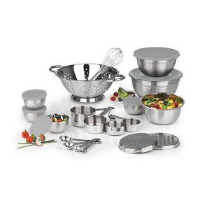 MAXXMEE Küchen-Set 27-tlg. Edelstahl