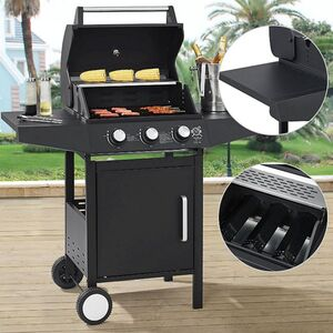 Broilcue BBQ Gas-Grill Louisiana, 3 Brenner Grillrost, Deckel mit Thermometer