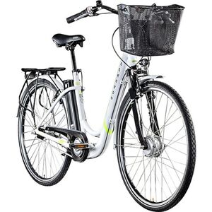 Zündapp Z517 700c E-Bike E Cityrad Damenrad Pedelec Elektrofahrrad Damen Fahrrad 28 Zoll... 48 cm, weiß/grün