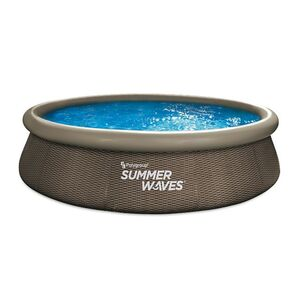 Summer Waves Quick Pool 366x76 cm, rattan braun