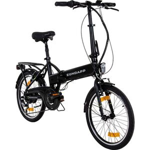 Zündapp Green 1.0 20 Zoll E-Klapprad E Folding Bike Citybike Faltrad Elektrofahrrad Pedelec... schwarz matt