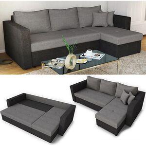 Vicco Ecksofa mit Schlaffunktion Sofa Couch Schlafsofa Bettfunktion Taschenfederkern