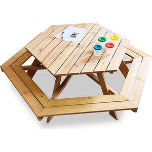 Coemo 6 eckige Kindersitzgruppe Lars Picknicktisch Holz