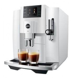 JURA Kaffeevollautomat E8 piano white ,  1450 Watt, One Touch