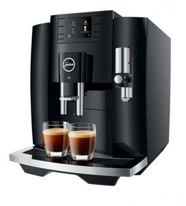 JURA Kaffeevollautomat E8 Piano Black ,  1450 Watt, One Touch