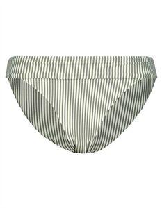 Damen Bikini Slip mit Streifenmuster