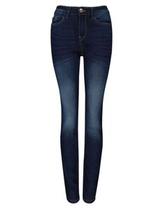 Damen Slim Fit Jeans im Stone Washed Look