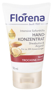 Florena Handkonzentrat Intensive Soforthilfe mit Sheabutter & Arganöl 50 ml