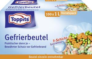 Toppits Gefrierbeutel 1L Vorratspack 100 Stück