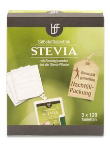 BFF Stevia Tabletten Nachfüll-Packung 3x 120 Stück