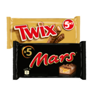 Mars, Snickers oder Twix Multipacks 5er