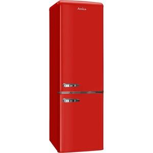 Amica Kühl-/Gefrierkombination KGCR 387 100 R Chili Red- Retro