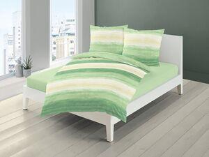 Bierbaum Mako-Satin Bettwäsche »Pastell Streifen«, Grün-Gelb