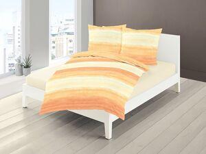 Bierbaum Mako-Satin Bettwäsche »Pastell Streifen«, Orange-Gelb