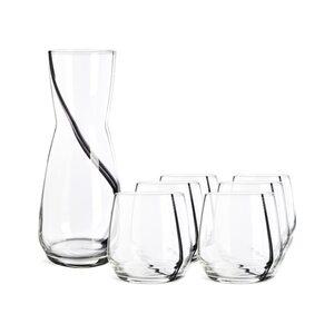 Set Karaffe mit Gläsern One-Line, 7-teilig