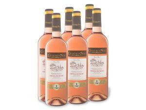 6 x 0,75-l-Flasche Couleurs du Sud Grenache Rosé Pays d'Oc IGP trocken, Roséwein