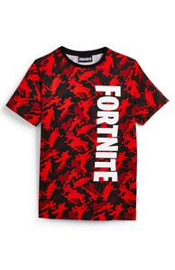 """Rotes """"Fortnite"""" T-Shirt mit Muster (Teeny Boys)"""