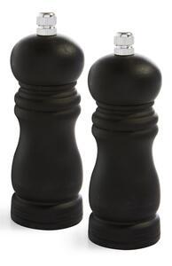 Schwarzer Salz- und Pfefferstreuer aus Holz