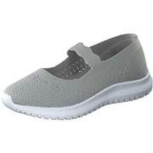 Inspired Shoes Spangenballerina Damen grau