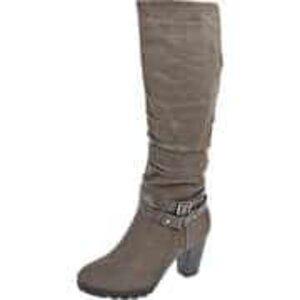Inspired Shoes Langschaftstiefel Damen grau