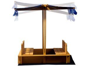 dobar Verschließbarer Sandkasten mit Sitzbänken und verstellbarem Dach