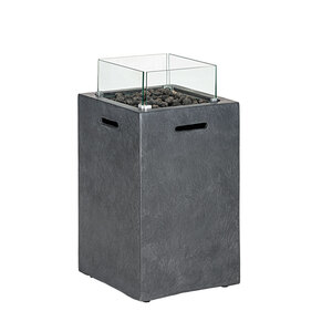 """Rothmann              Gas-Feuerstelle """"Maastricht"""" 42x66x42 cm, Leichtbeton mit Glasumrandung"""