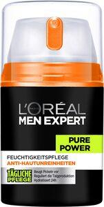 L'ORÉAL PARIS MEN EXPERT Feuchtigkeitscreme »Pure Power«, bekämpft Hautunreinheiten, ohne auszutrocknen