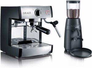 Graef Siebträgermaschine Espressomaschine pivalla SET, inkl. Kaffeemühle CM702 im Wert von € 94,99 UVP