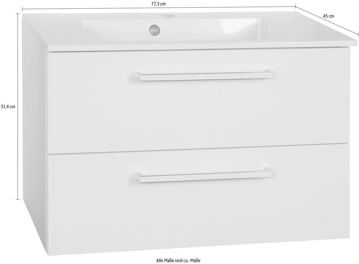 Bild 5 von Schildmeyer Waschtisch »Siena«, Breite 77,3 cm, Mineralgussbecken, montiert