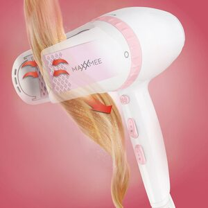 MAXXMEE Haartrockner, 2000 W, 360° mit 3 verschiedenen Heizstufe weiß/rosa