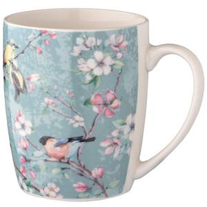 Tasse mit Blumen-Motiv
