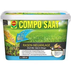 Compo Saat Rasen-Neuanlage-Mix Rasen und Dünger 100 m² 2,2 kg