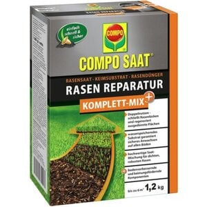 Compo Saat® Rasen-Reparatur Komplett Mix+ 1,2 kg für bis zu 6 m²