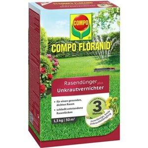 Compo Floranid Rasendünger plus Unkrautvernichter 1,5 kg für 50 m²