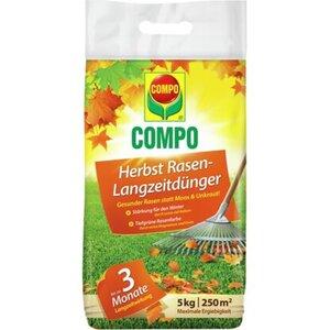 Compo Herbst Rasendünger Langzeitwirkung 5 kg
