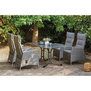Siena Garden Dining-Set Padova 5-teilig 4 x Move Sessel 1 x Klapptisch