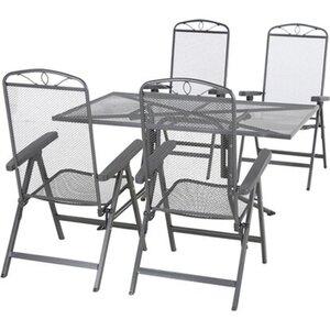 Siena Garden Dining-Set Elda 5-teilig 4 x Klappsessel 1 x Tisch