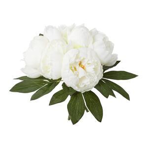 Kunstpflanze Pfingstrose in Weiß