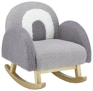 Kinderstuhl in Grau/Weiß